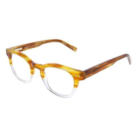 Eyebobs Waylaid EB 2231 19 1.50 Unisex Amber and Crystal Frame Reading Glasses 46mm