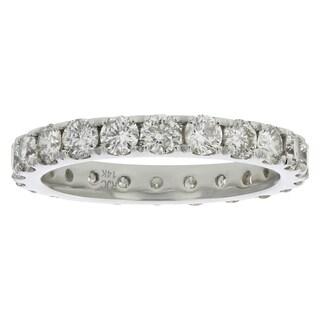 2 Cttw Diamond Eternity Ring 14K White Gold