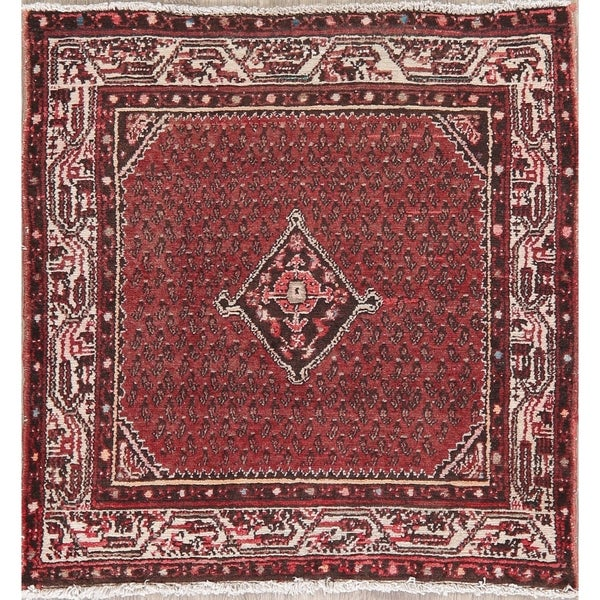 """Vintage Malayer Persian Wool Oriental Hand Knotted Carpet Area Rug - 3'5"""" X 3'4"""" Square"""