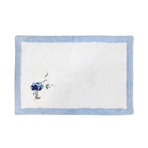 Croscill Charlotte Floral Embroidered Bath Rug