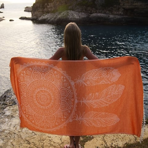 """Dream Catcher Beach Towels - 100 % Soft Turkish Cotton, Sand Resistant, Reversible, Fast Drying Towel  Size: 38 x 68"""""""