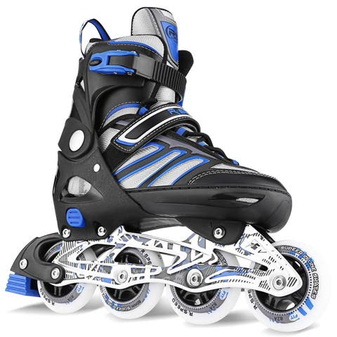 Ancheer Adult Cool Breathable Adjustable Size Inline Skates PU Roller Skates