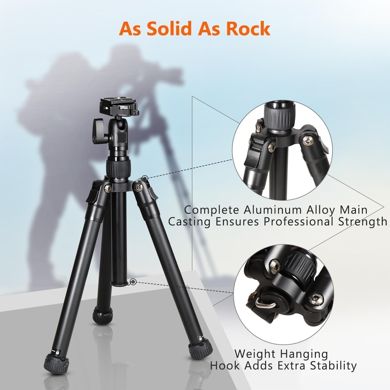 Adjustable Height 97-180cm CHENYANTUB Camera Accessories 4-Section Folding Legs Metal Tripod Mount for DSLR//SLR Camera