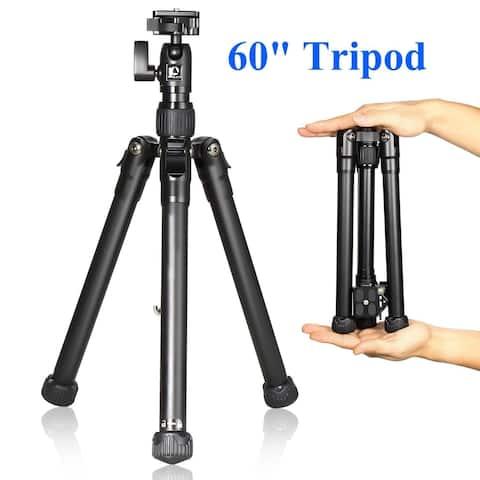 Ancheer Portable Lightweight Aluminium Alloy Camera Travel 4 Section Tripod - N/A