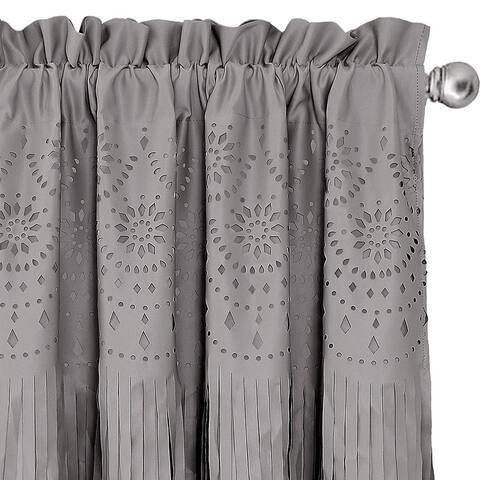 DriftAway Melvin Laser Eyelet Cut /Hollow/Openwork/Pierced Tassel Room Darkening Grommet Thermal Insulated Window Curtain