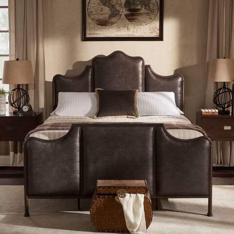 Cade Antique Dark Bronze Metal Queen Bed by iNSPIRE Q Classic