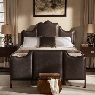 Link to Cade Antique Dark Bronze Metal Queen Bed by iNSPIRE Q Classic Similar Items in As Is