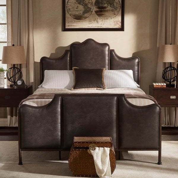 Cade Antique Dark Bronze Metal Queen Bed by iNSPIRE Q Classic. Opens flyout.