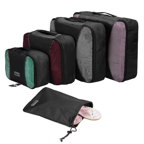Homdox 4-Piece Set Packing Cubes Storage Bags Organizer Cloth Bags