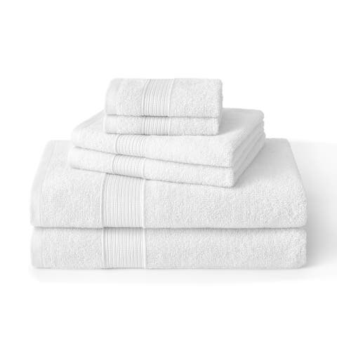 Brielle 6 Piece Turkish Cotton Towel Set