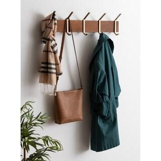 Kate and Laurel Rossmore Modern 5 Hook Shelf - 5 Hooks