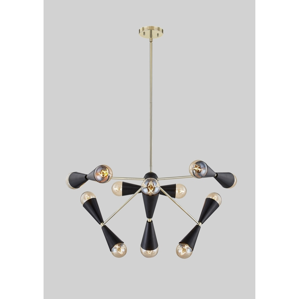 Urbanest Set of 9 Chandelier Mini Lamp Shade 5 inch, Bell, Clip On, Black