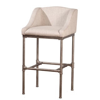 Hillsdale Furniture Dillion Non-Swivel Bar Stool in Textured Silver  (As Is Item)