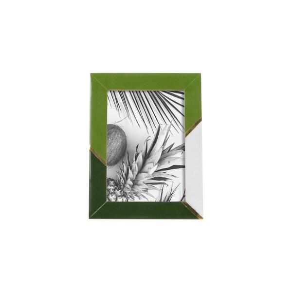 5X7 Green Geo Photo Frame
