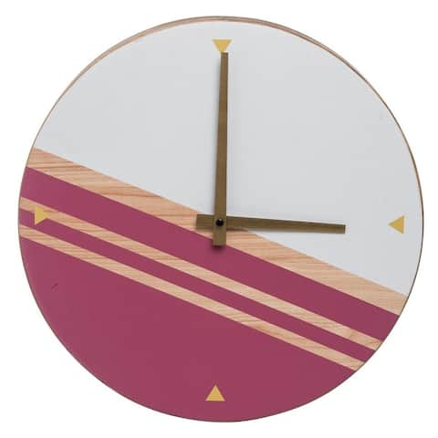 Carson Carrington Banafjal Pink Wall Clock