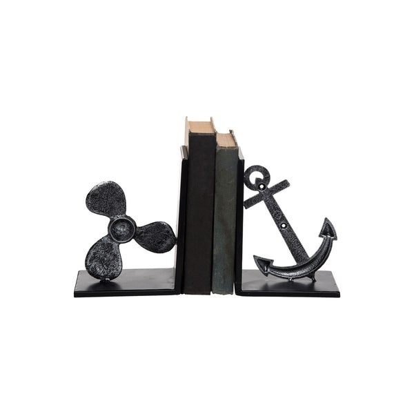 Anchor & Propeller Bookends, Set of 2