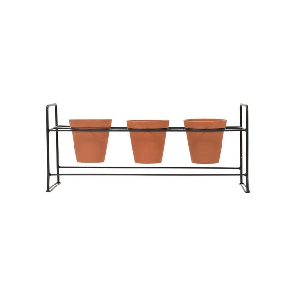 Rack With Three Pots, Set of 4