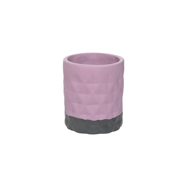 Diamond Cement Pot Lilac