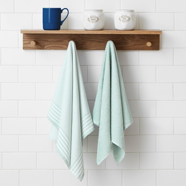 Brielle Home 2 Piece Woven and Terry Dish Towel Set