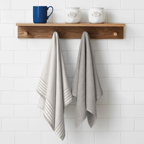 Carson Carrington Tappudden 2-piece Woven and Terry Dish Towel Set