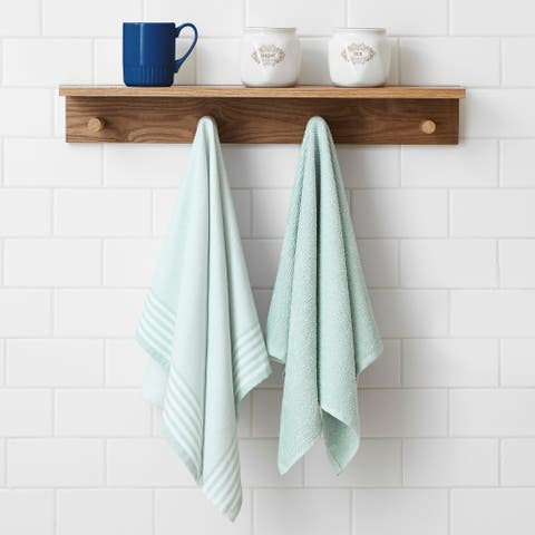 Brielle 2 Piece Woven and Terry Dish Towel Set