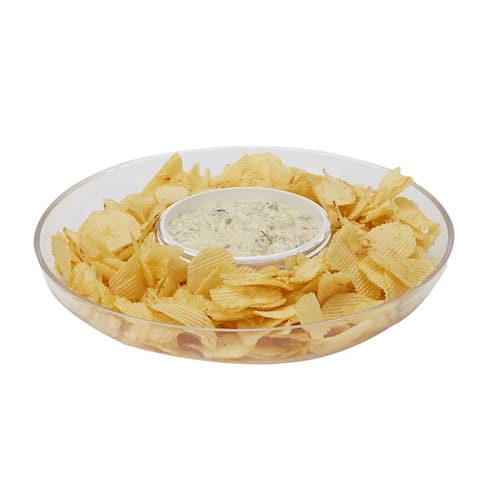 Mind Reader Acrylic Chip & Dip Bowl, Acrylic Countertop Bowl, Clear