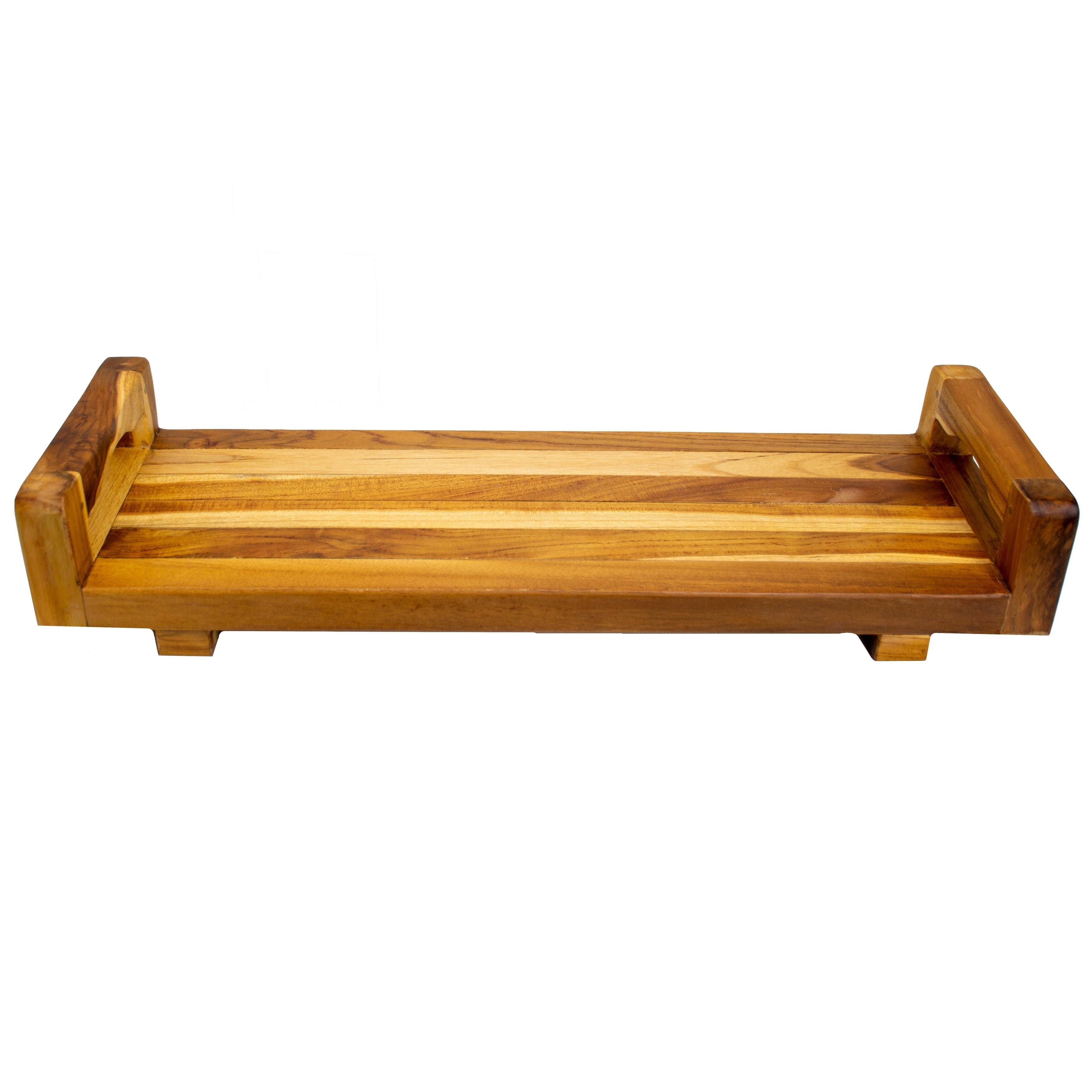 Ecodecors Solid Teak Eleganto Bathtub Seat Bench Board And Tray With Liftaide Arms Overstock 29030247