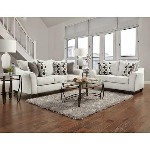 Sofa Trendz Chapel Silver Sofa & Loveseat Set