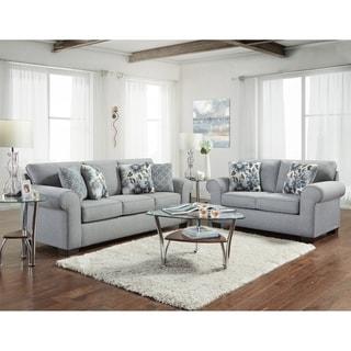Sofa Trendz Crescent Grey Sofa & Loveseat Set