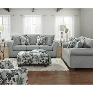 Sofa Trendz Crescent Grey Sofa Loveseat & Ottoman Set