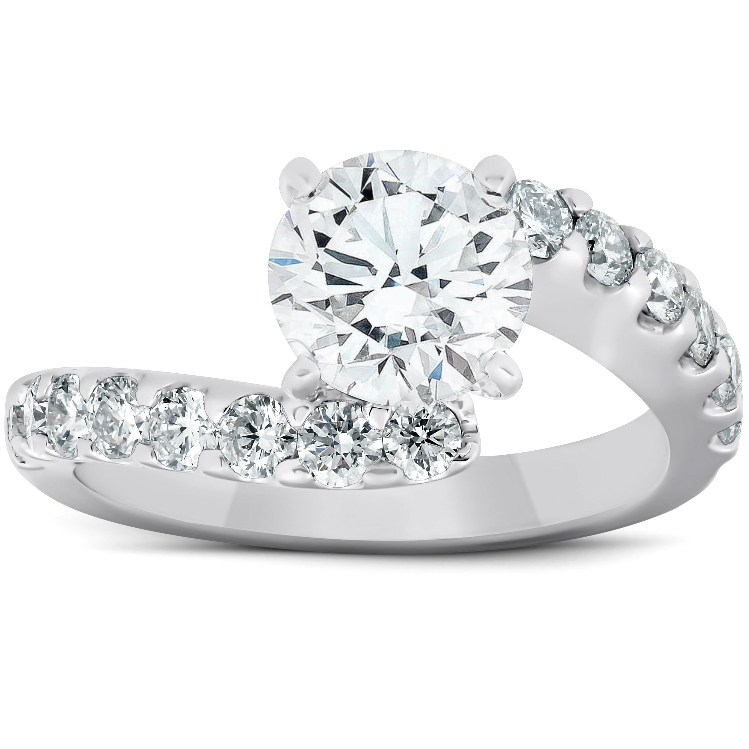 3ct Baguette Halo Diamond Eternity Engagement Band 14k White Gold Over Enhanced