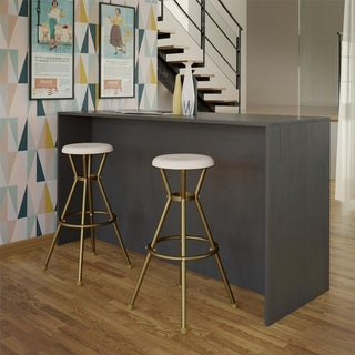 Link to The Curated Nomad Gramercy Retro Metal Backless Bar Stools (Set of 2) Similar Items in Dining Room & Bar Furniture