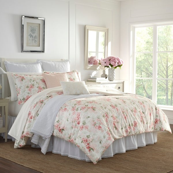 Laura Ashley Wisteria Pink Comforter Set. Opens flyout.