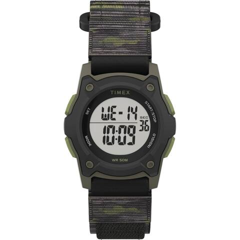 Timex Boys TW7C77500 Time Machines Digital Black/Green Camo Watch