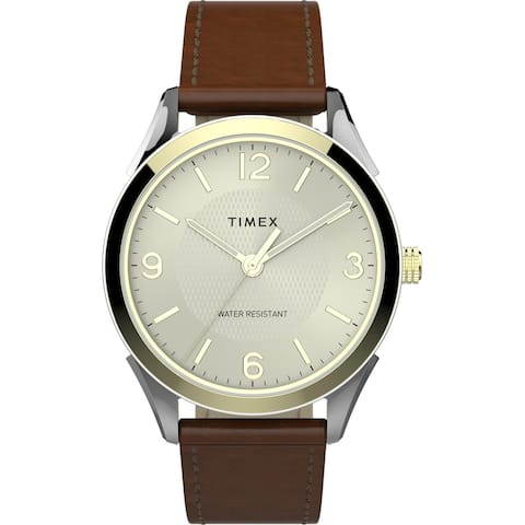 Timex Men's TW2T67000 Briarwood 40mm Brown/Gold-Tone Watch