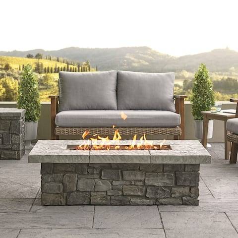 Sedona Rect. Propane Fire Table in Gray with NG Conversion - N/A