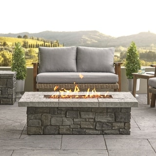 Link to Sedona Rect. Propane Fire Table in Gray with NG Conversion - N/A Similar Items in Fire Pits & Chimineas