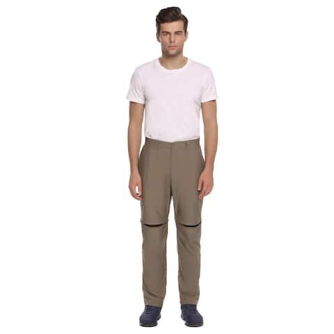 Ekouaer Mens Casual Sport Training Trail Convertible Pants