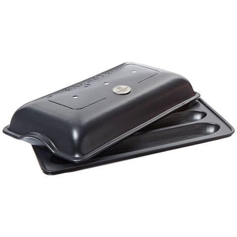 """Emile Henry Charcoal - Baguette Maker - 15.5 x 9.5"""""""