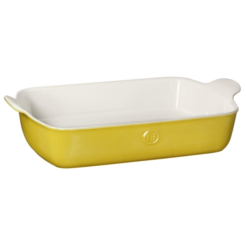 Emile Henry 13-Inch Oval Au Gratin Citron Yellow