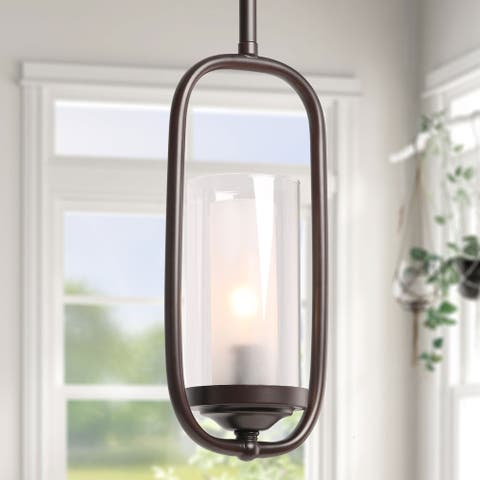 "Carbon Loft Sethi Pendant Lighting for Kitchen Island Modern Farmhouse Hanging Ceiling Lamp - 5.5"" x 11"""