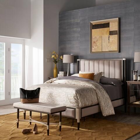 Sierra Beige Fabric Queen Bedroom Set by iNSPIRE Q Modern