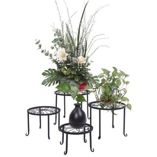 Metal Flower Pot Plant Stand Plant Shelf Set of 4 for Home Decor