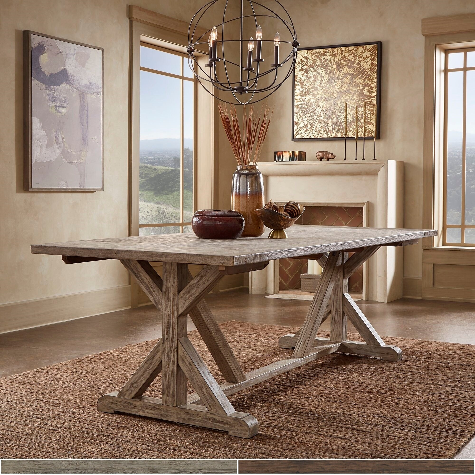Picture of: Paloma Antique Oak Or Brown Reclaimed Wood Dining Table By Inspire Q Artisan Overstock 29035130