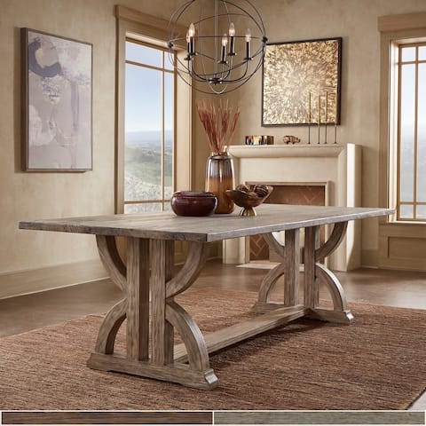 Paloma Brown or Grey Finish Reclaimed Wood Dining Table by iNSPIRE Q Artisan