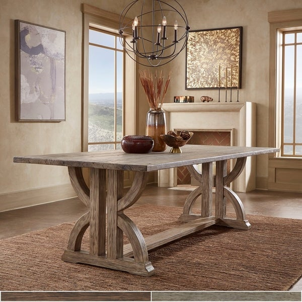 Paloma Brown or Grey Finish Reclaimed Wood Dining Table by iNSPIRE Q Artisan. Opens flyout.