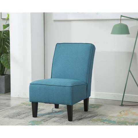 Copper Grove Ivano Linen Armless Accent Settee Sofa