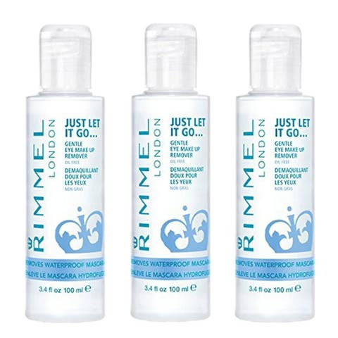 (3 Pack) NEW Rimmel Eye Makeup Remover, 3.40 Fluid Ounce