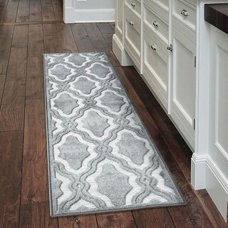 """My Texas House by Orian Indoor/Outdoor Cotton Blossom Harbor Blue Runner Rug - 2'3"""" x 8'"""