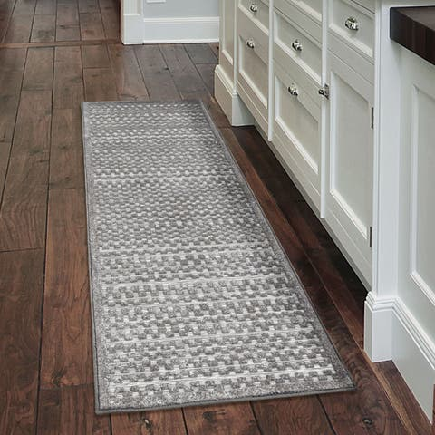 """My Texas House by Orian Indoor/Outdoor Quail Hollow Silverstone Runner Rug - 1'11"""" x 7'6"""""""